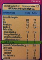 COFFEE MATE CHAI LATTE - Información nutricional - es