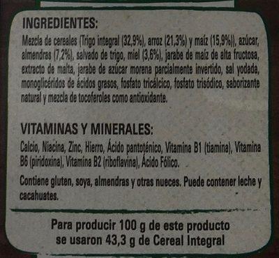 FITNESS MIEL Y ALMENDRA - Ingredients - es