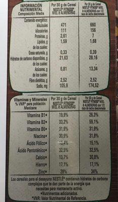 FITNESS MIEL Y ALMENDRA - Nutrition facts - es