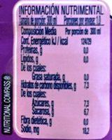 Agüitas Nestle Uva - Voedingswaarden