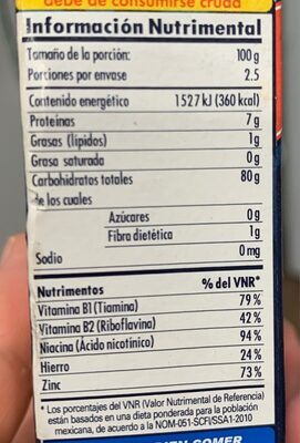 Harina de Arroz - Nutrition facts - en