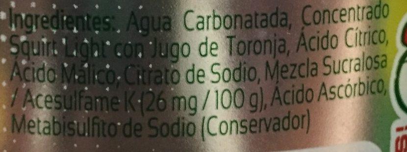 Squirt Light - Ingredientes - es