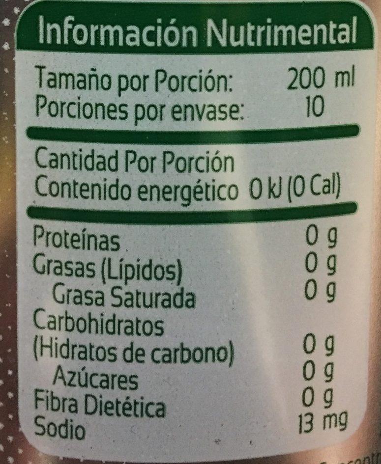 Squirt Light - Información nutricional - es