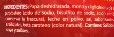 PURE DE PAPA CON QUESO CHEDDAR - Ingredientes - es