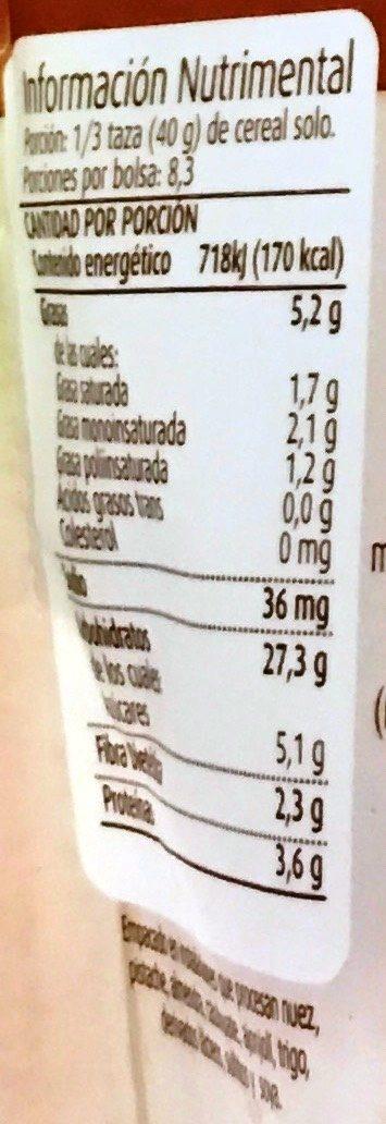 Granola Cocoa - Información nutricional - es