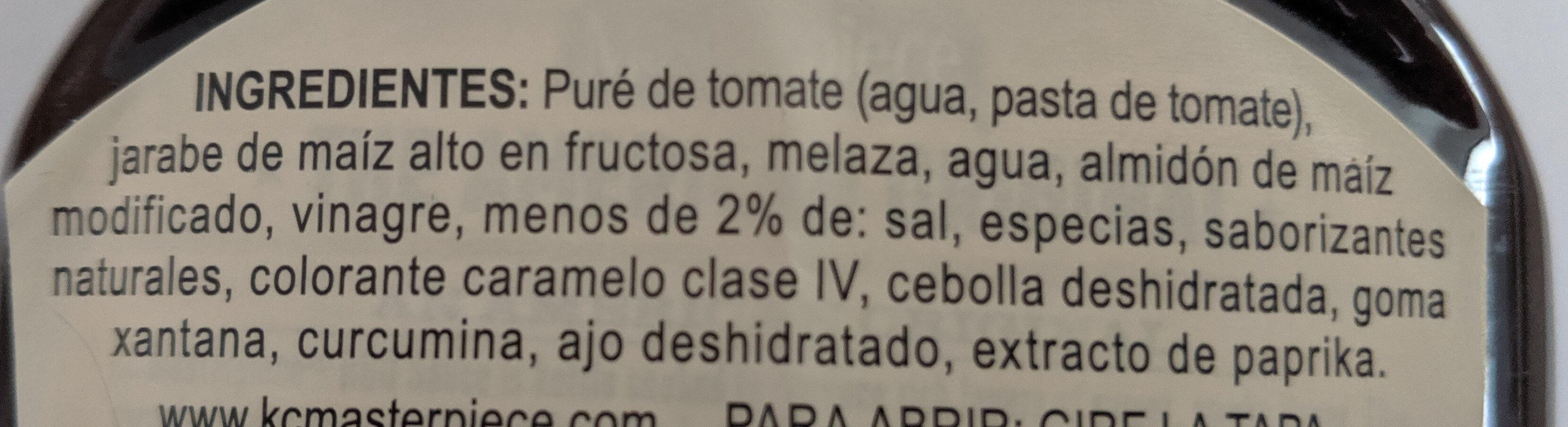 Salsa barbacoa The american original - Ingredients