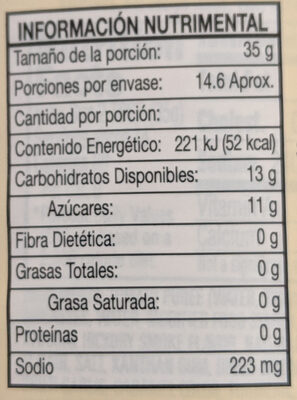 Salsa barbacoa The american original - Nutrition facts