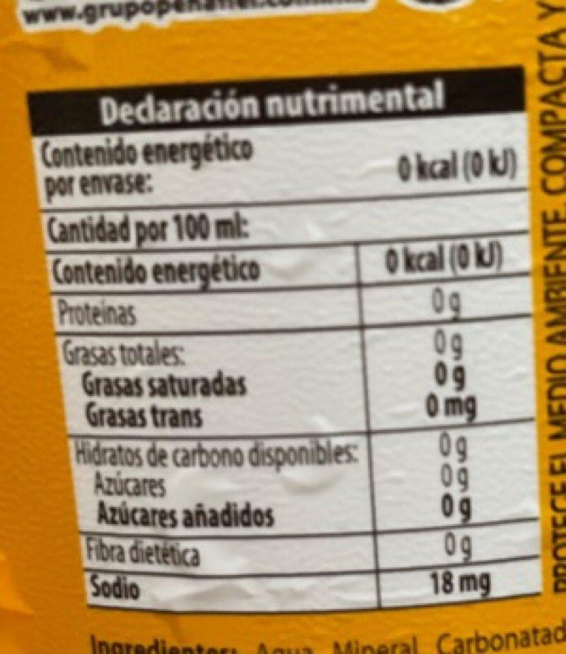 Penafiel Manzana - Información nutricional - en