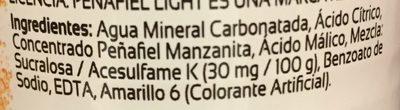 Peñafiel Manzanita Light - Ingrédients
