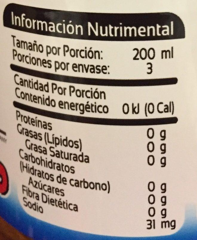 Peñafiel Manzanita Light - Informations nutritionnelles