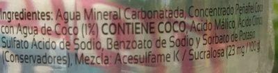 Peñafiel Coco - Ingrédients