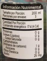 Peñafiel Coco - Informations nutritionnelles