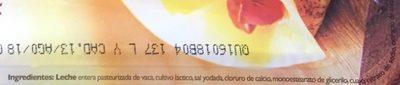 Queso Manchego Nochebuena - Ingrediënten - es