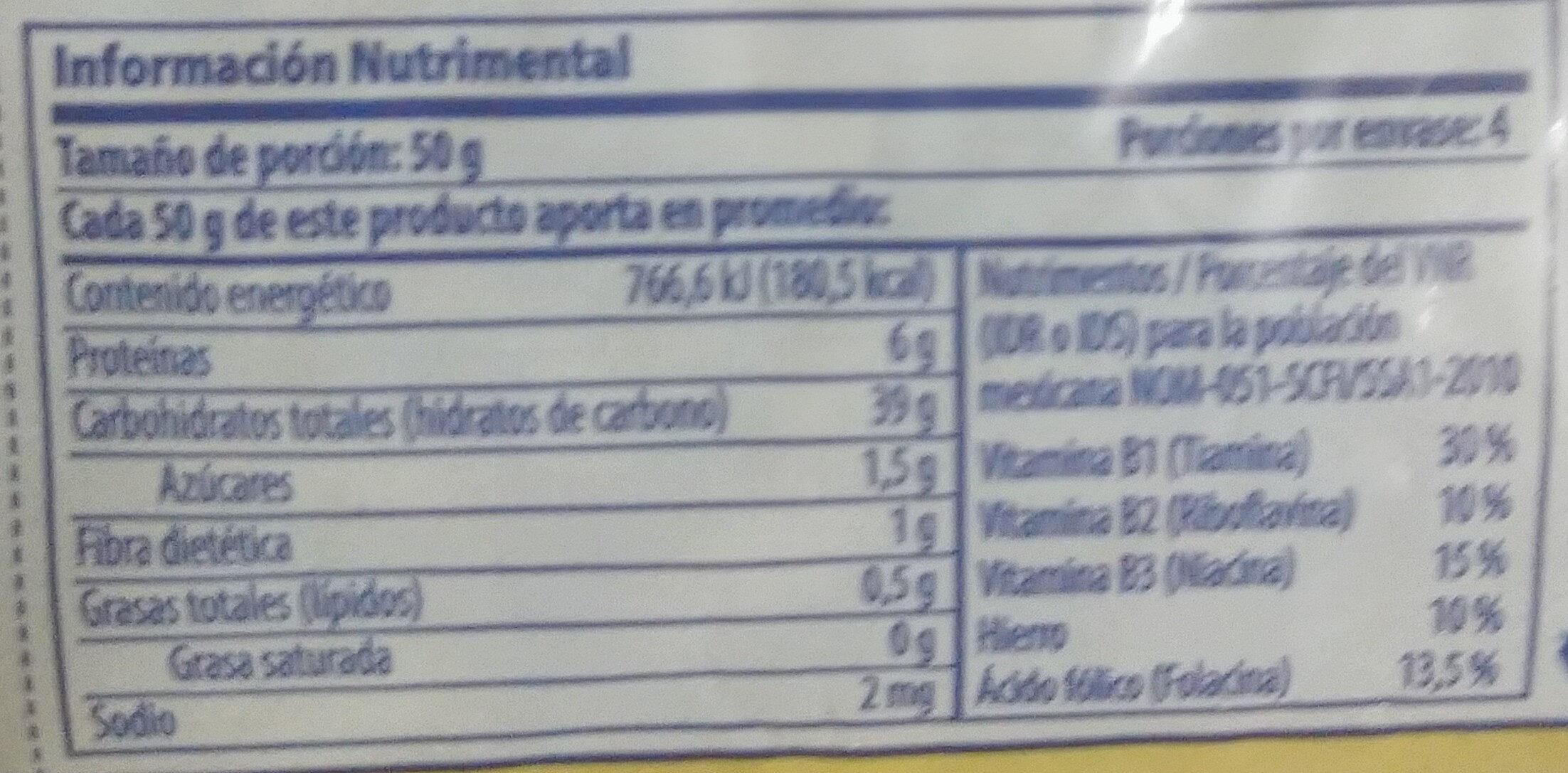 Codo mediano - Nutrition facts - es
