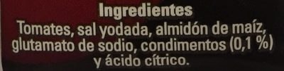 PURE DE TOMATE CONDIMENTADO - Inhaltsstoffe