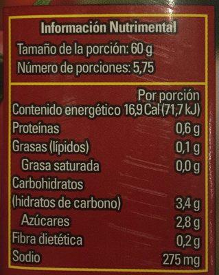 PURE DE TOMATE CONDIMENTADO - Nährwertangaben