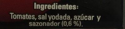 PURE DE TOMATE SAZONADO - Inhaltsstoffe