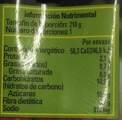 PURE DE TOMATE SAZONADO - Nährwertangaben