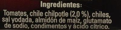 PURE DE TOMATE CON CHIPOTLE - Ingrediënten - es