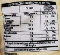 Edulcorante de mesa a base de azúcar de caña y extracto de Stevia Bajo en Calorías envase 390 g - Información nutricional - es