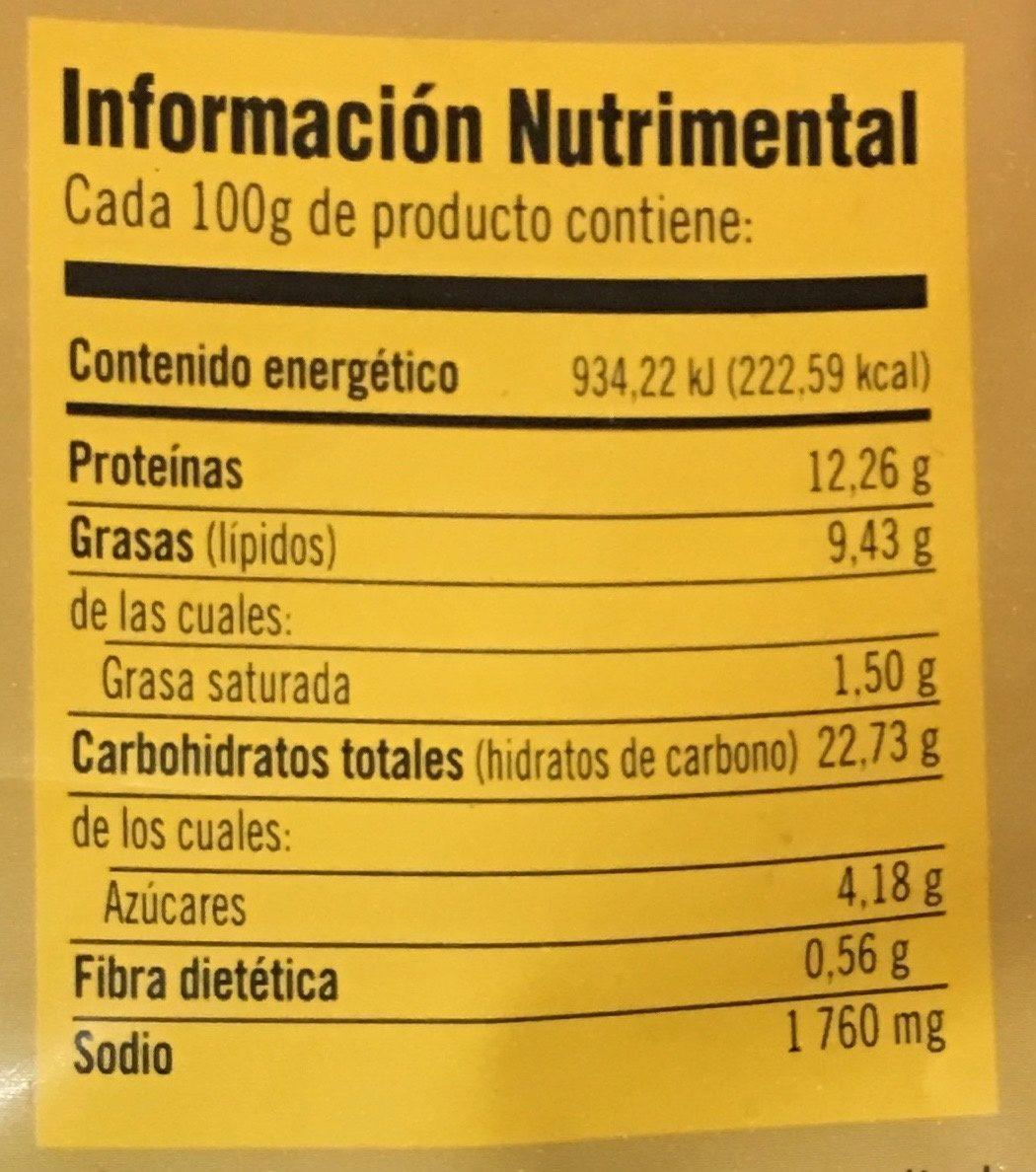 Trozos de Pechuga pimienta limón Bachoco - Información nutricional - es