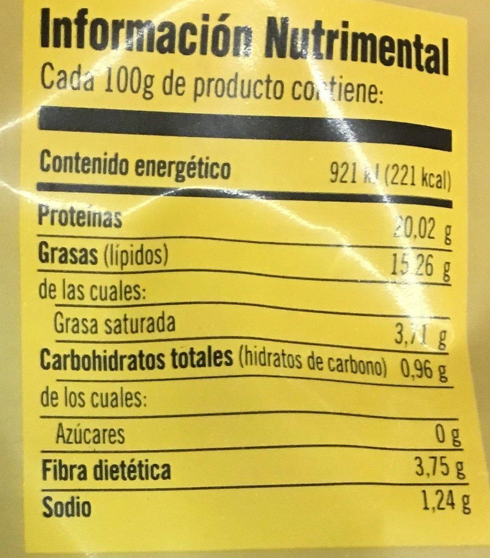 Alitas Picositas Bachoco - Información nutricional - es