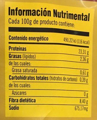 Tiras de Pechuga Bachoco - Informations nutritionnelles - es
