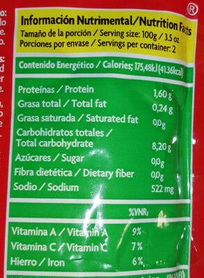 Puré de Tomate Val Vita - Información nutricional - es