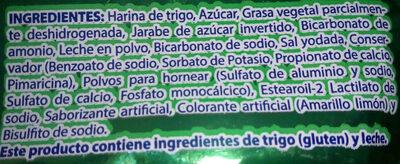 Delicias Richaud - Ingredients - es