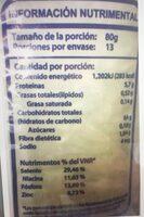 Arroz  Grueso Super extra SOS - Información nutricional - es