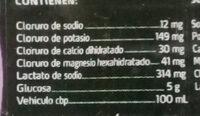 Suero rehidratante sabor uva - Ingredients