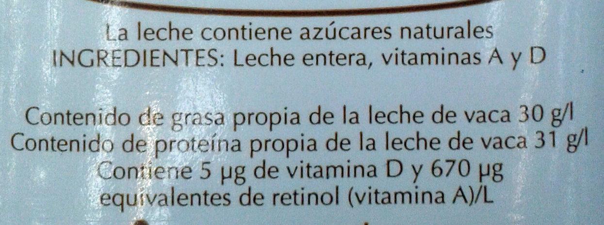 Leche Entera - Ingrediënten - es
