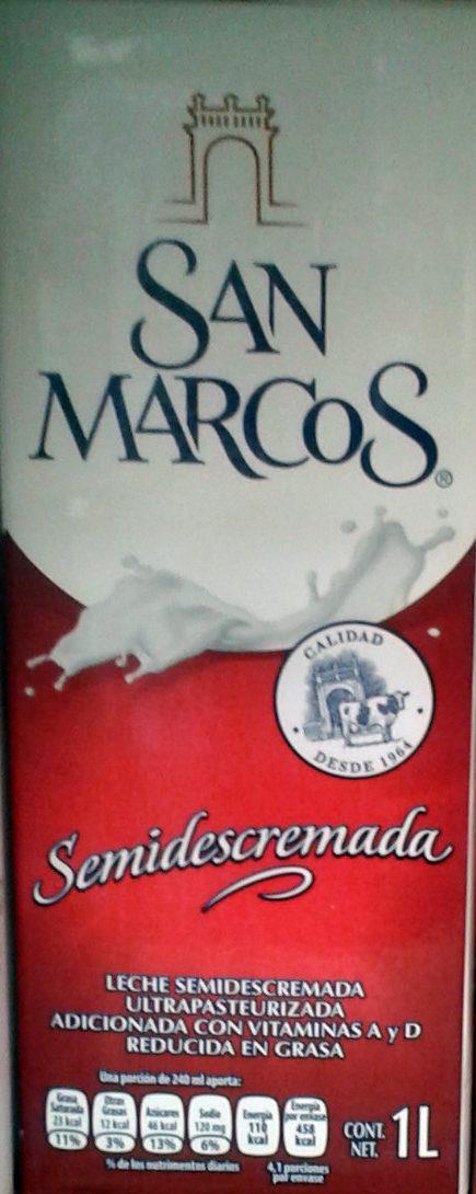 Leche Semidescremada San Marcos - Produit