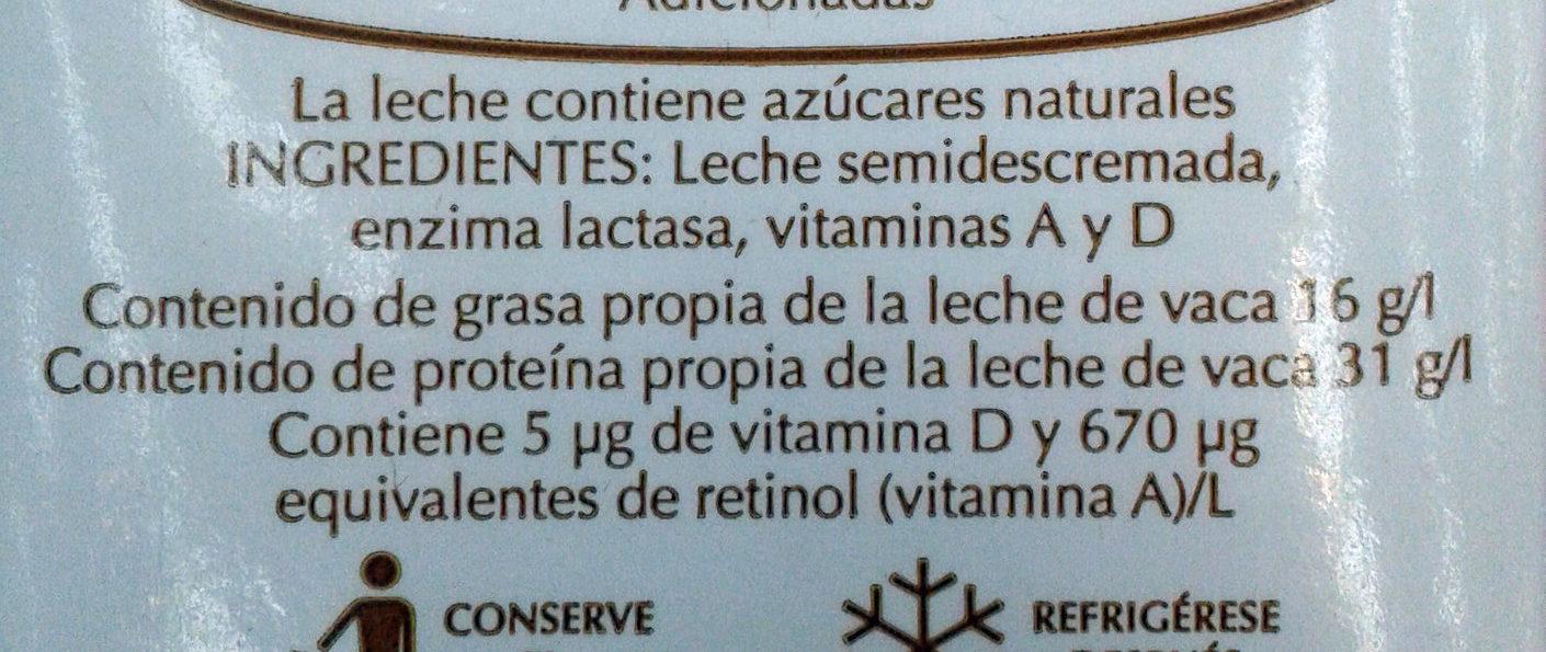 Leche Deslactosada - Ingrediënten