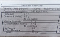 Huevo fresco - Nutrition facts - es