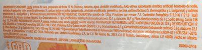 Delighurt Durazno - Ingredients - es