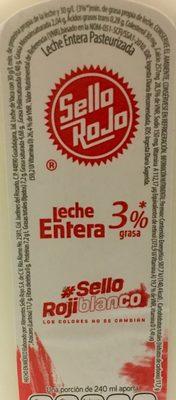 Leche entera 3 % grasa - Ingrédients - es