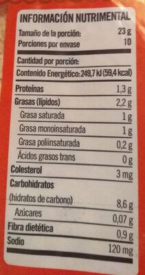 Selecto - Informations nutritionnelles - es