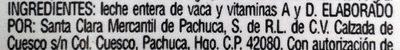 Santa Clara, Leche entera - Ingredienti - es