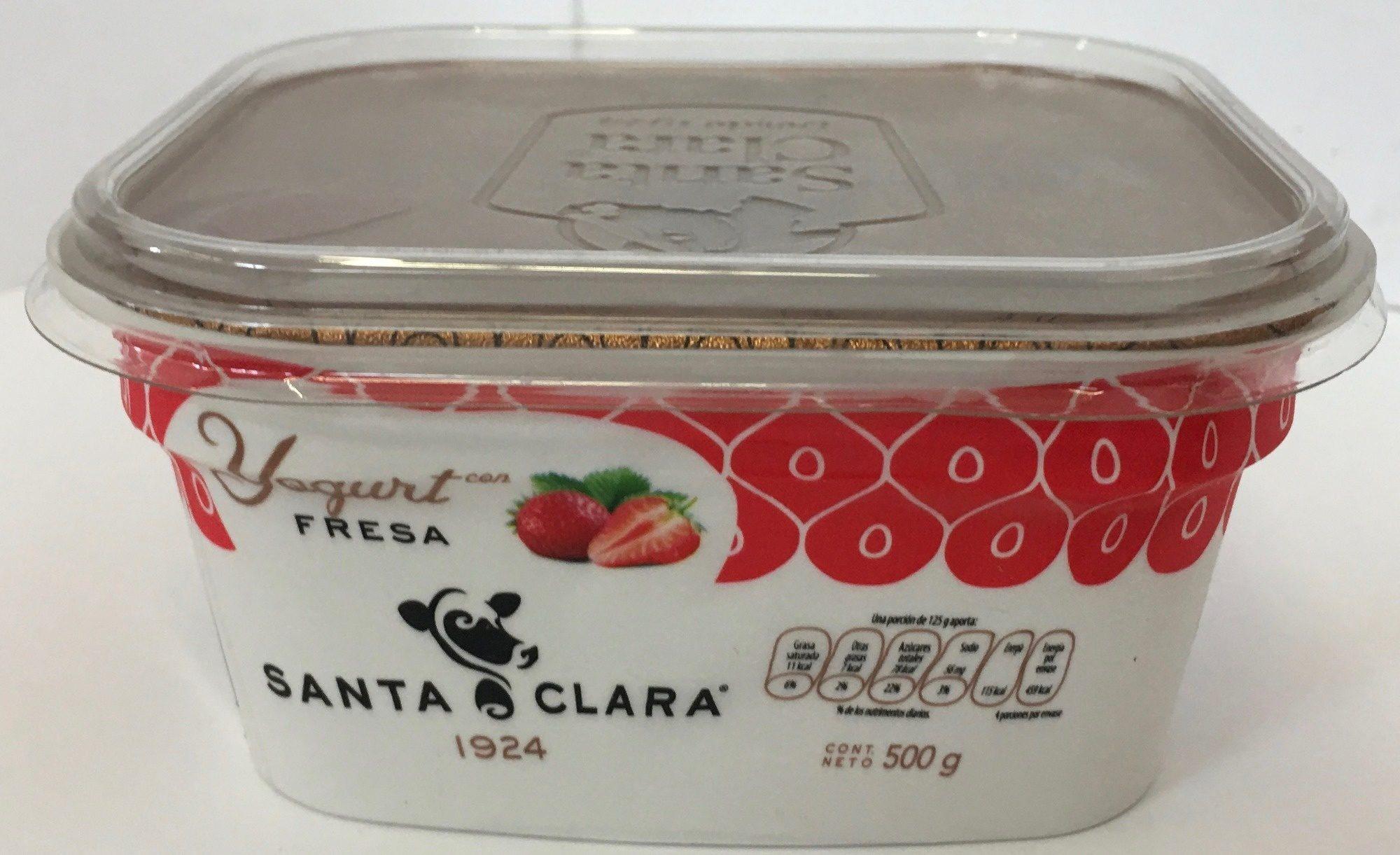 Santa Clara yogurt sabor Fresa - Product - es