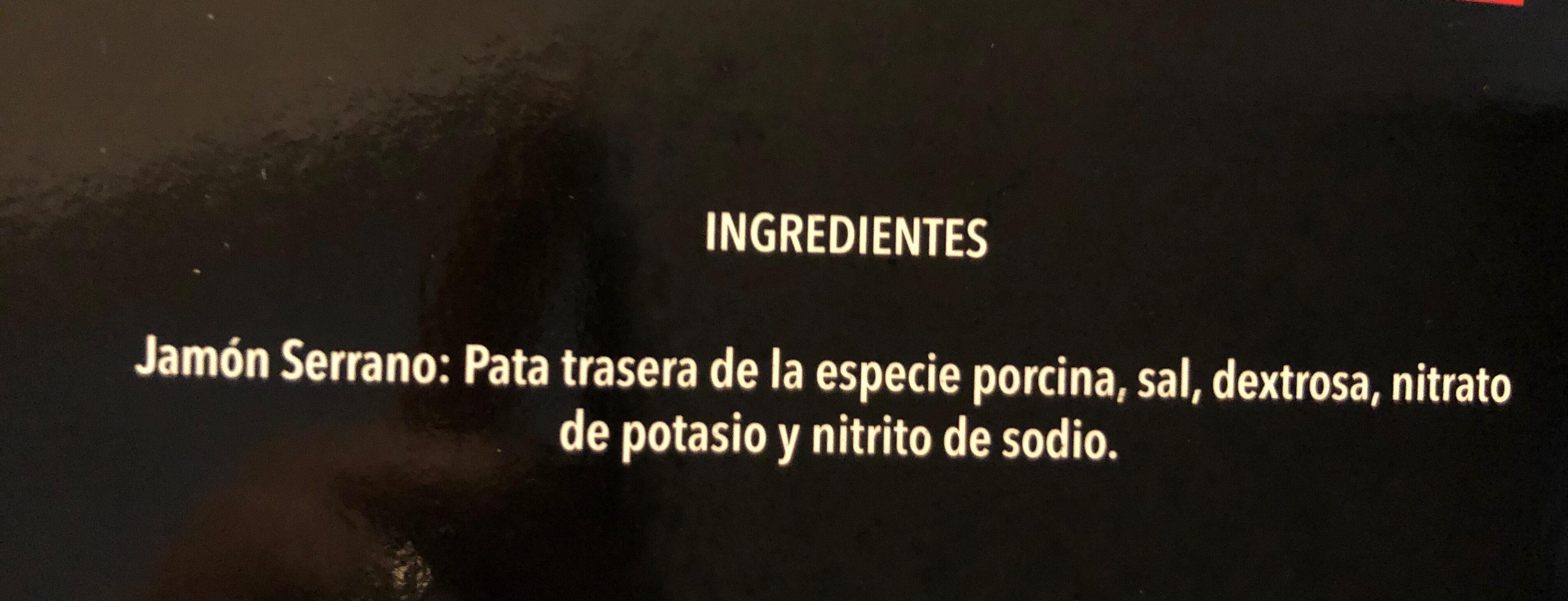Jamón serrano - Ingrediënten - es