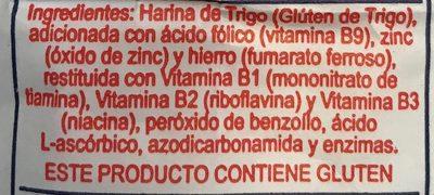 Harina de trigo - Ingrediënten - es