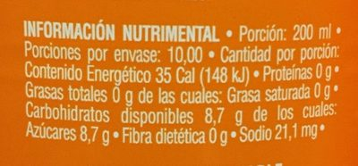 Jarritos - Voedingswaarden - es