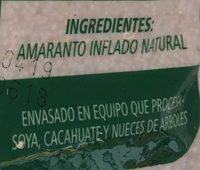 AMARANTO NATURAL - Ingrediënten - es