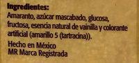 Amaranto sabor vainilla - Ingrediënten - es