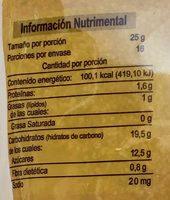 Amaranto sabor vainilla - Voedingswaarden - es