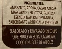 AMARANTO SABOR CHOCOLATE - Ingrédients - es
