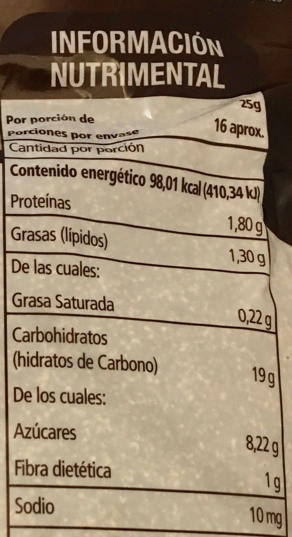 AMARANTO SABOR CHOCOLATE - Informations nutritionnelles - es