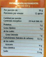 GRANOLA DORADA - Voedingswaarden - es