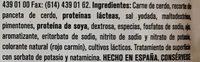 PEPPERONI PARMA - Ingredients - es